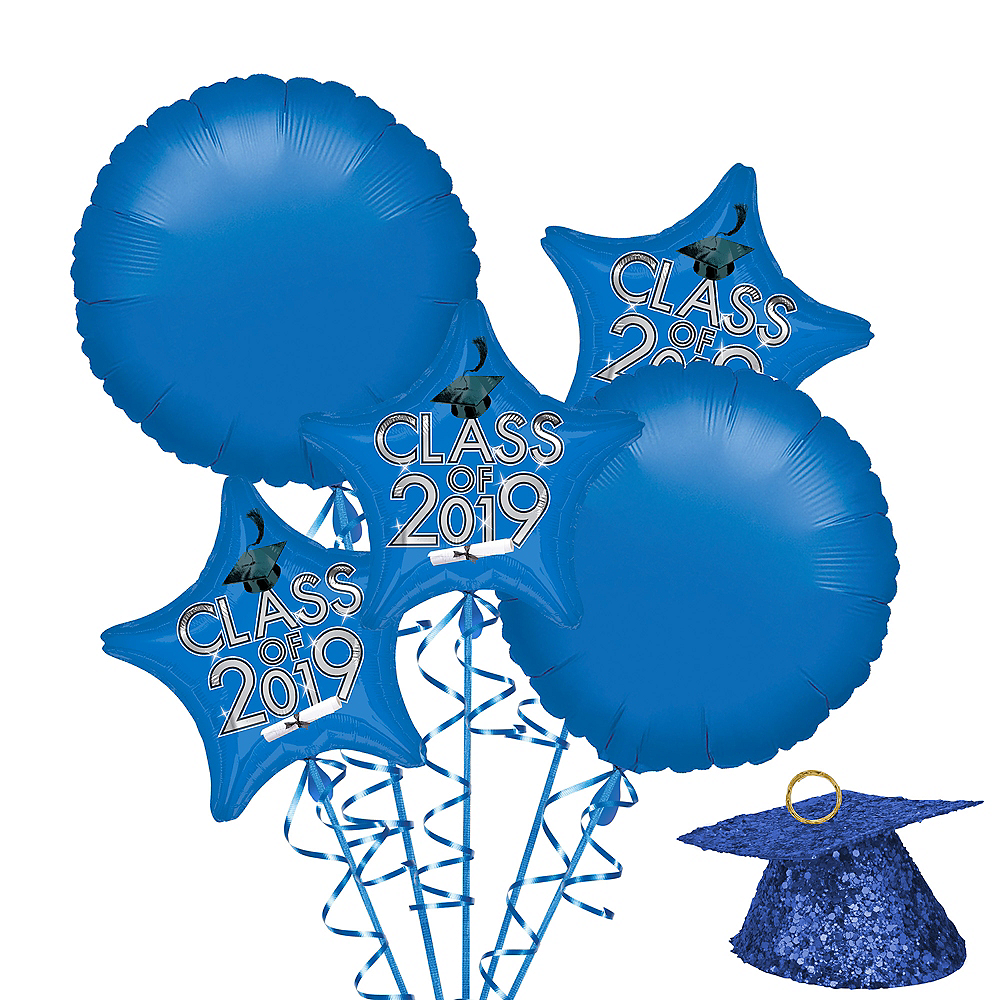 Nav Item for Blue Class of 2019 Graduation Balloon Kit Image #1
