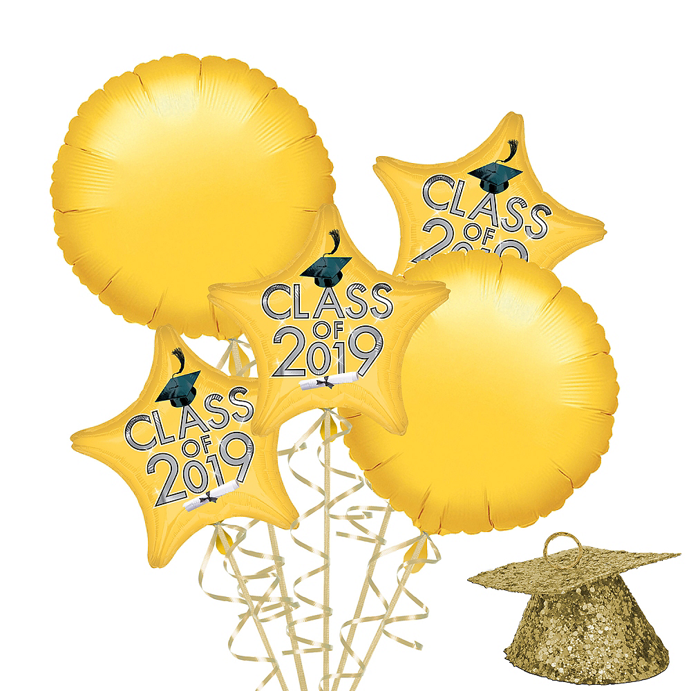 Gold Class of 2019 Graduation Balloon Kit Image #1