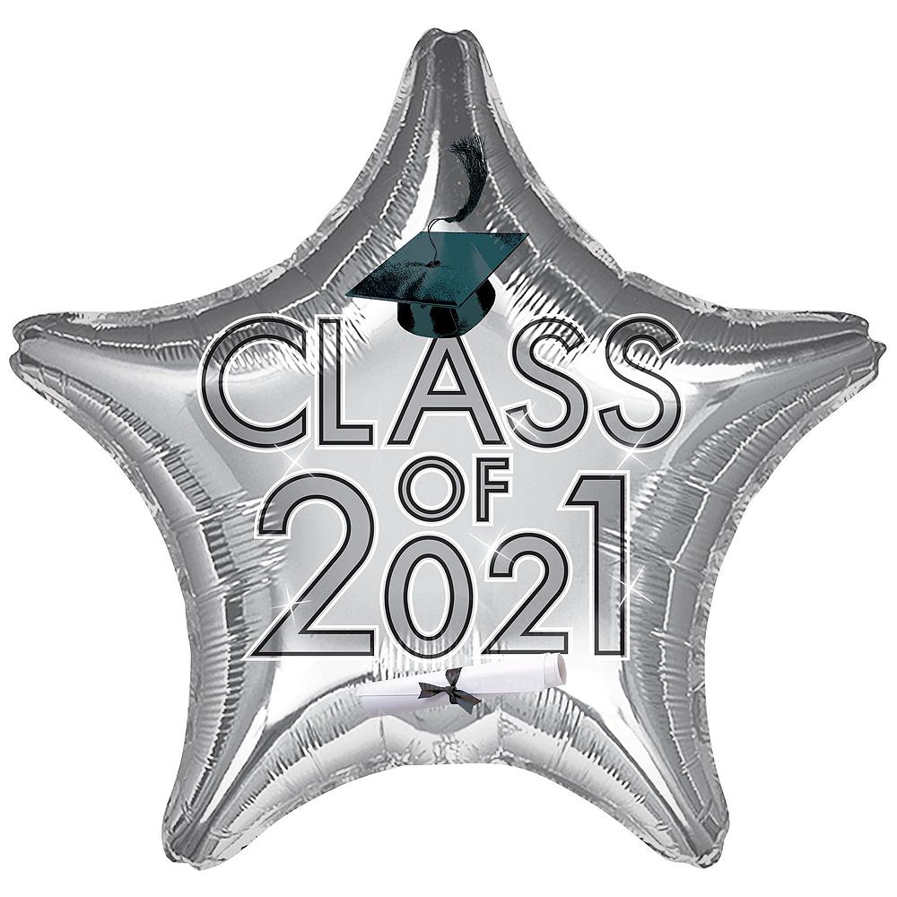 Silver Class of 2019 Graduation Balloon Kit Image #5