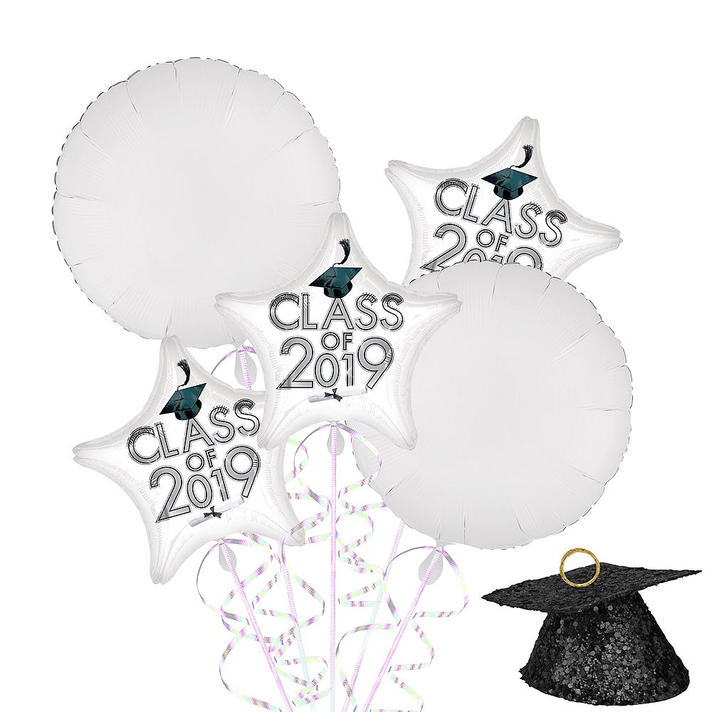 White Class of 2019 Graduation Balloon Kit Image #1