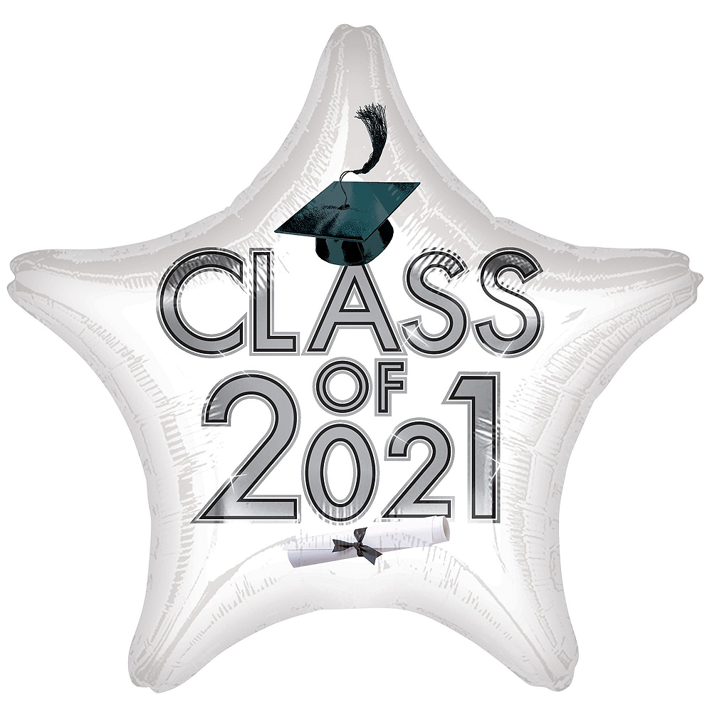 White Class of 2019 Graduation Balloon Kit Image #4