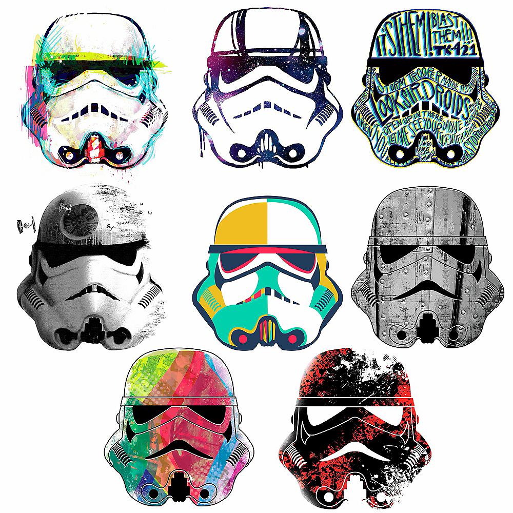 Stormtrooper Wall Decals 8ct - Star Wars Image #2