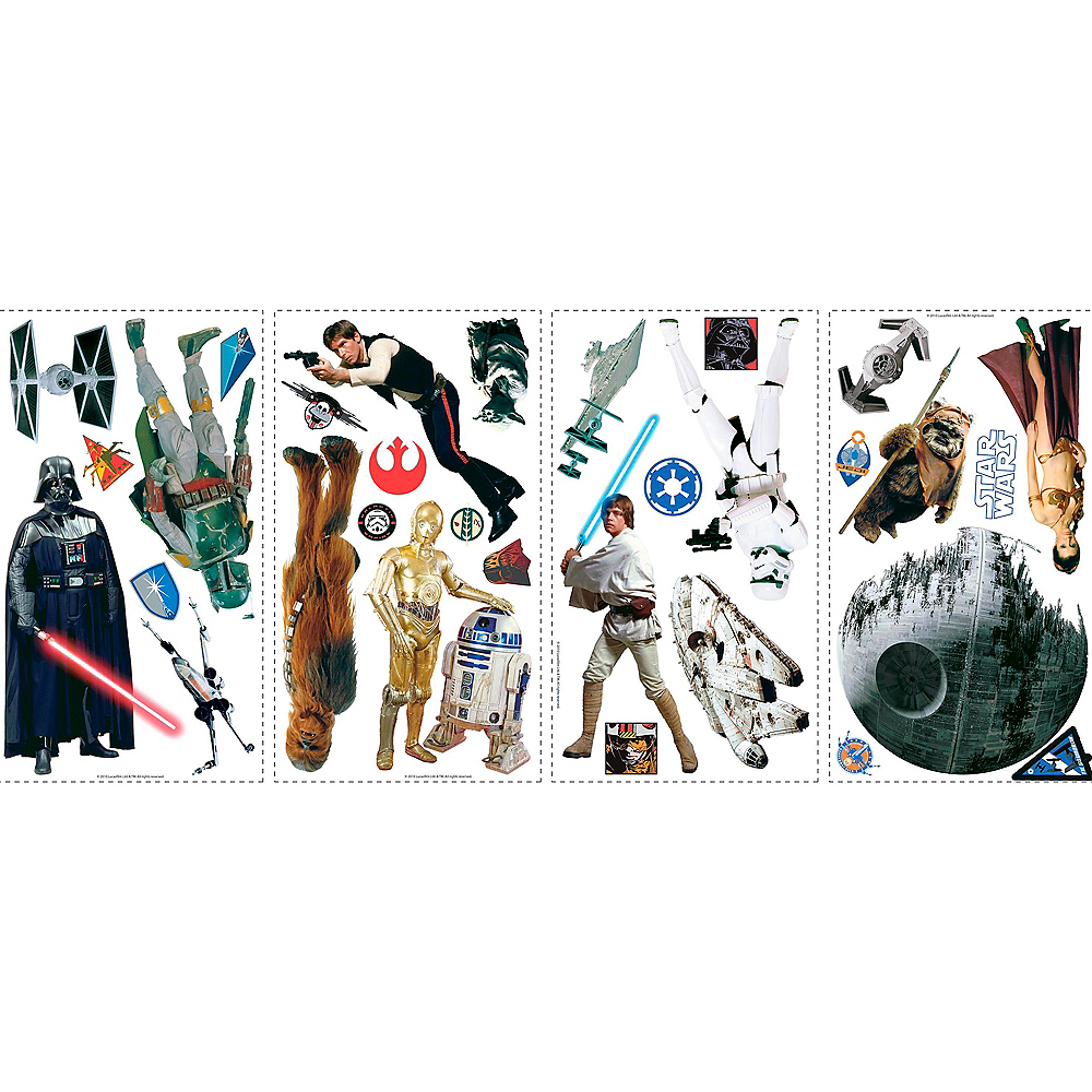 Classic Star Wars Wall Decals 31ct Image #2