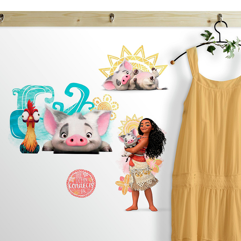 Moana Wall Decals 6ct