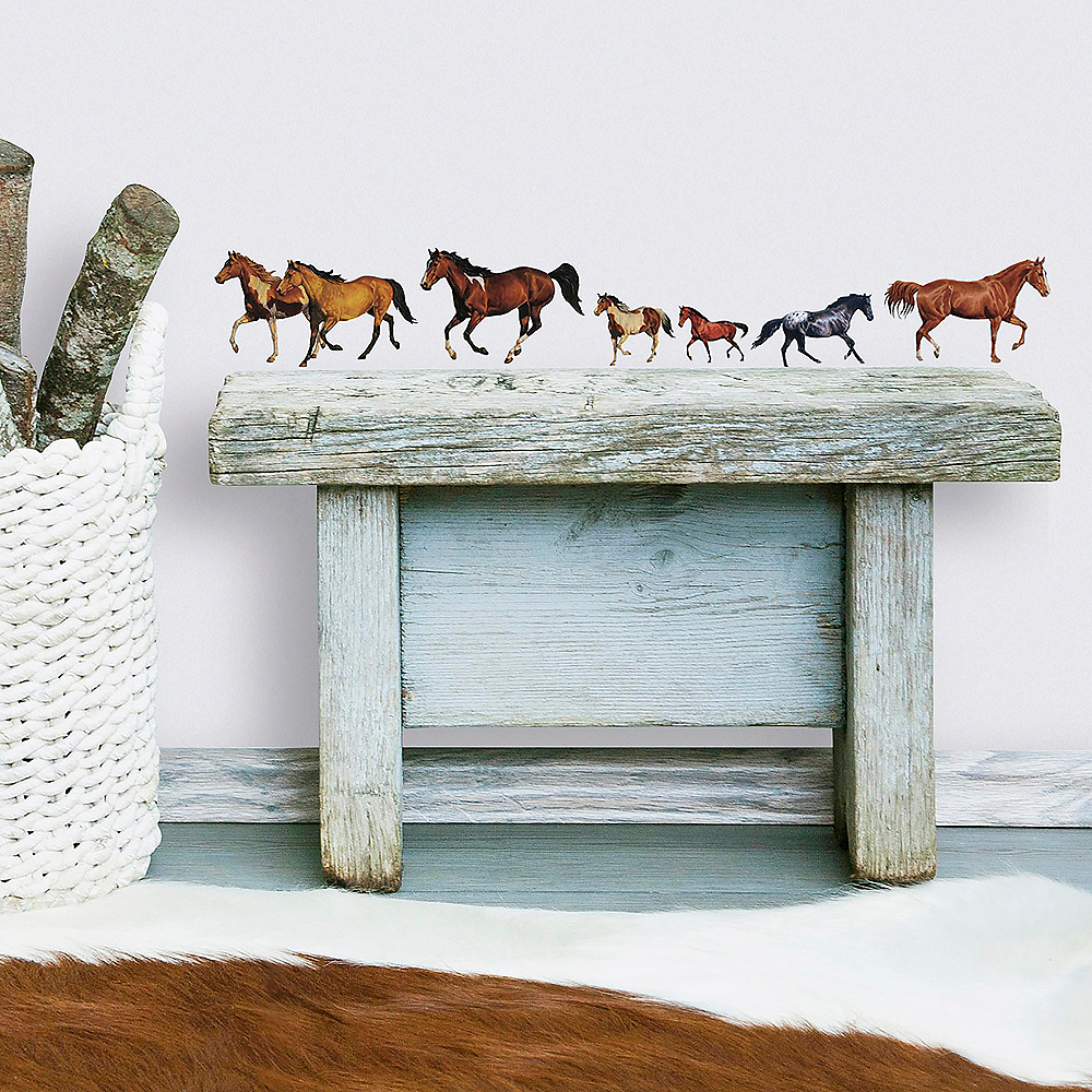 Wild Horses Wall Decals 24ct Image #1