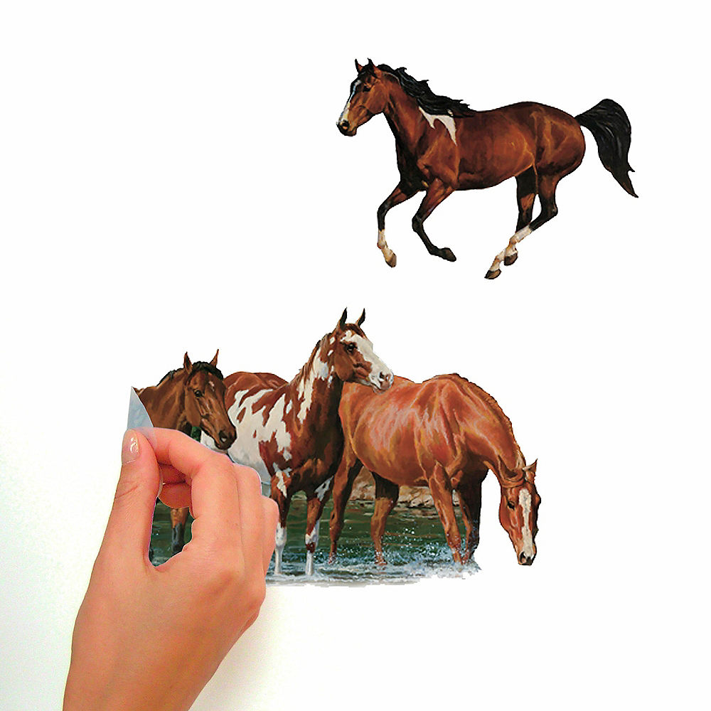 Wild Horses Wall Decals 24ct Image #2