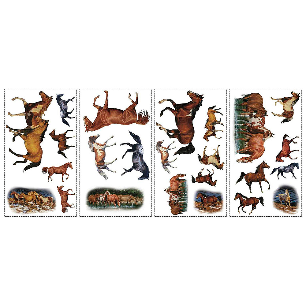 Wild Horses Wall Decals 24ct Image #3