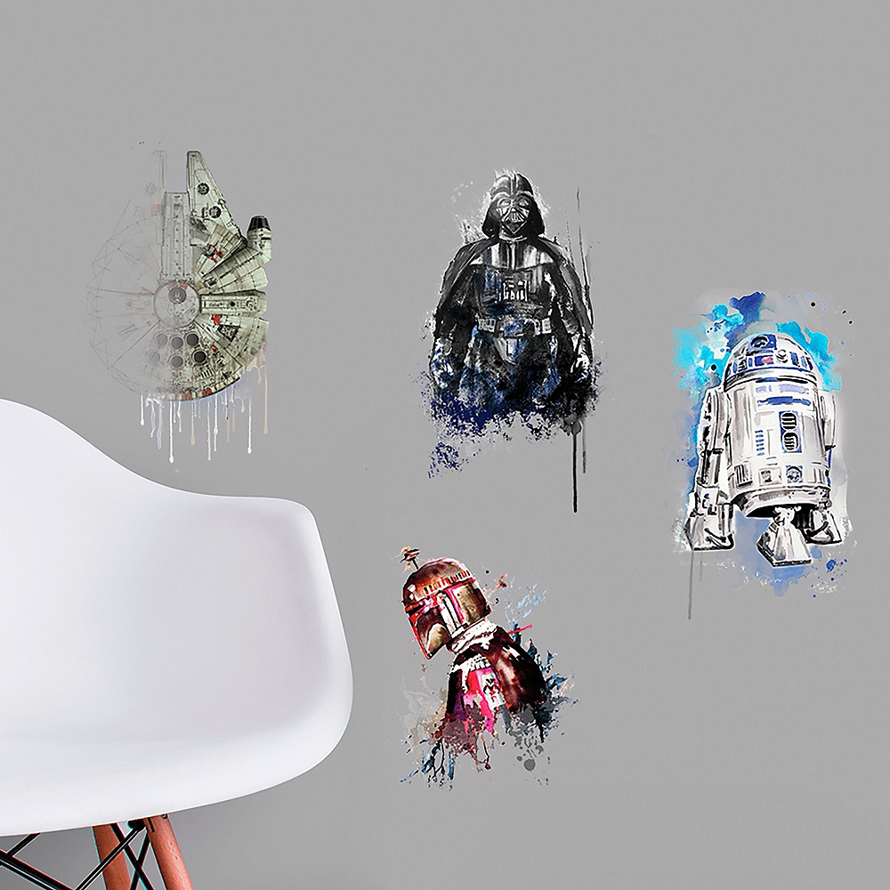 Watercolor Star Wars Wall Decals 6ct Image #1