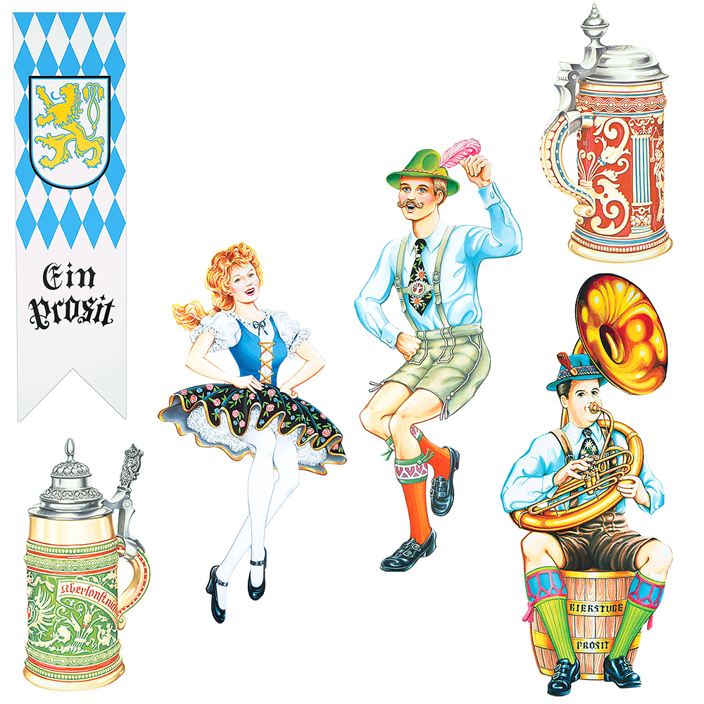 Nav Item for Oktoberfest Cardstock Cutouts 6ct Image #1