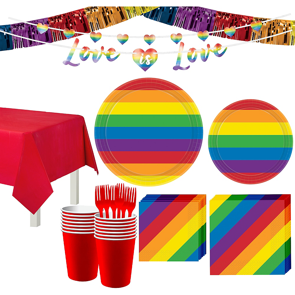 Pride Tableware Kit for 16 Guests Image #1