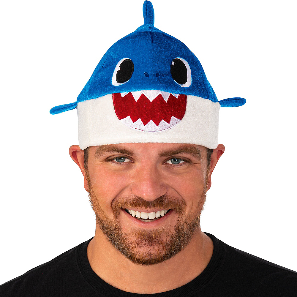 Adult Daddy Shark Hat with Sound Effect Image #1