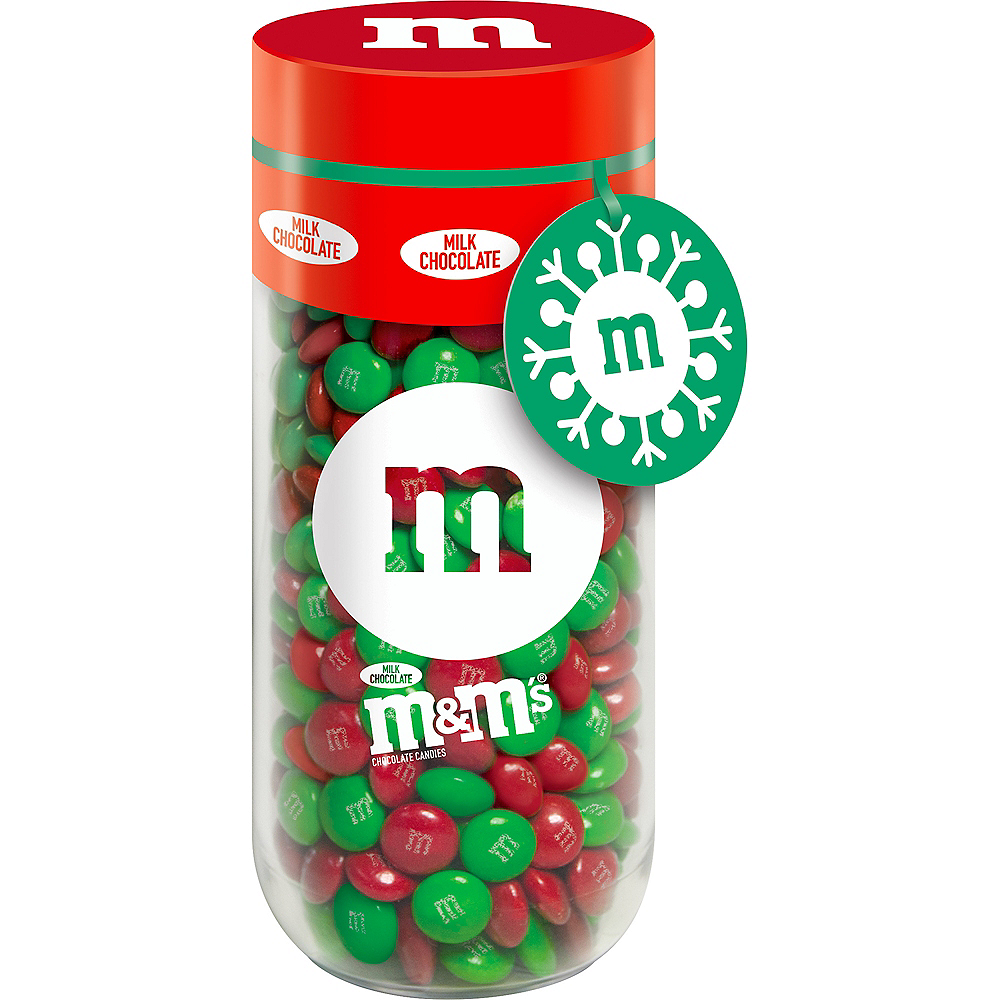 M&M'S, Milk Chocolate Christmas Candy Gift Jar Image #1