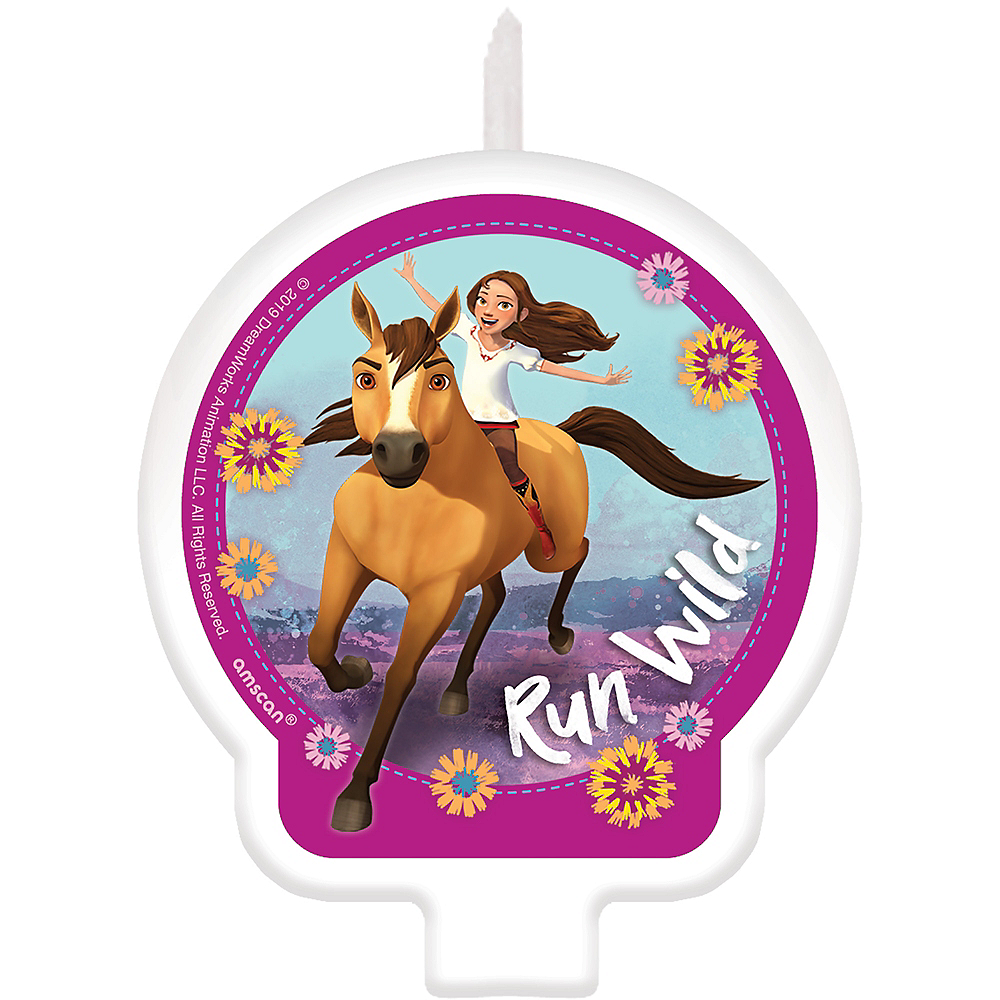 Spirit Riding Free Birthday Candle | Party City