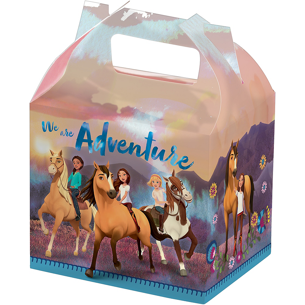 Spirit Riding Free Treat Boxes 5 1/4in x 8 3/4in | Party City