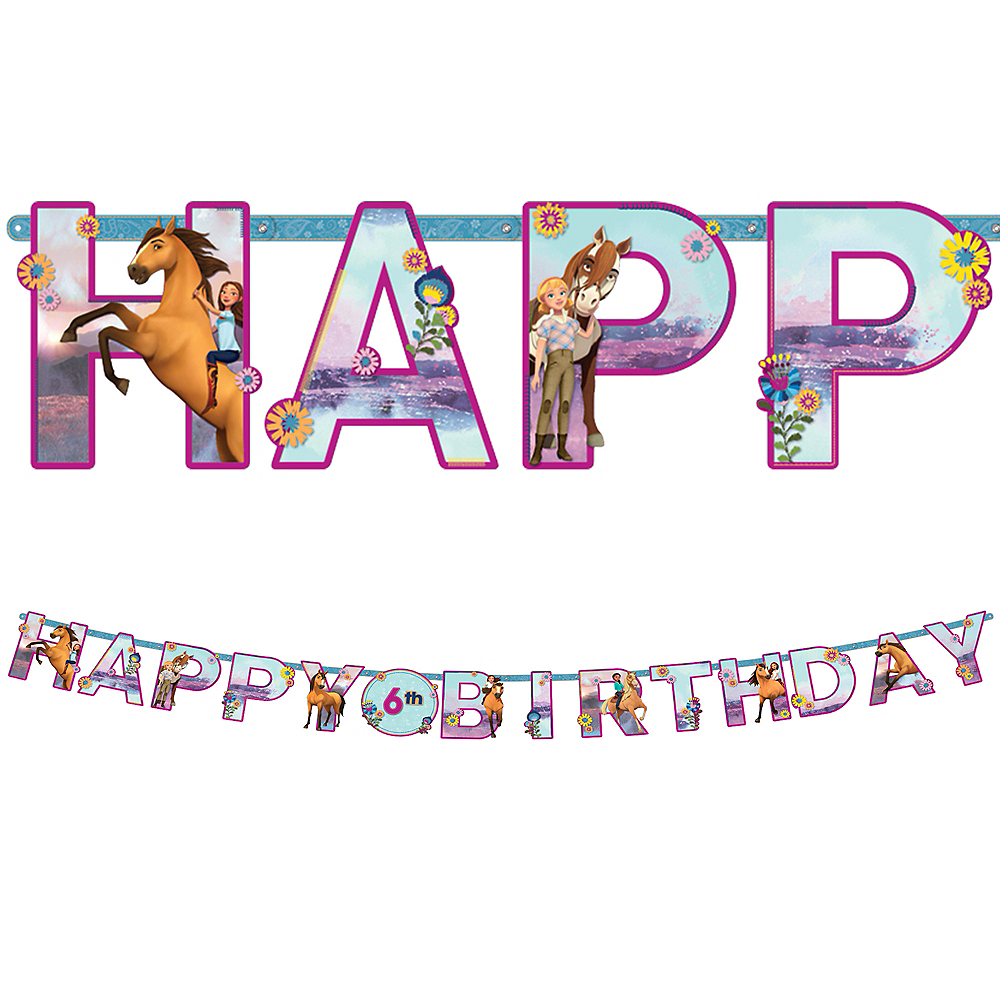 Spirit Riding Free Birthday Party Supplies Tableware and Decorations Plates Napkins Cups Table Cover Banner Premium Plastic Cutlery Serves 16 Guests