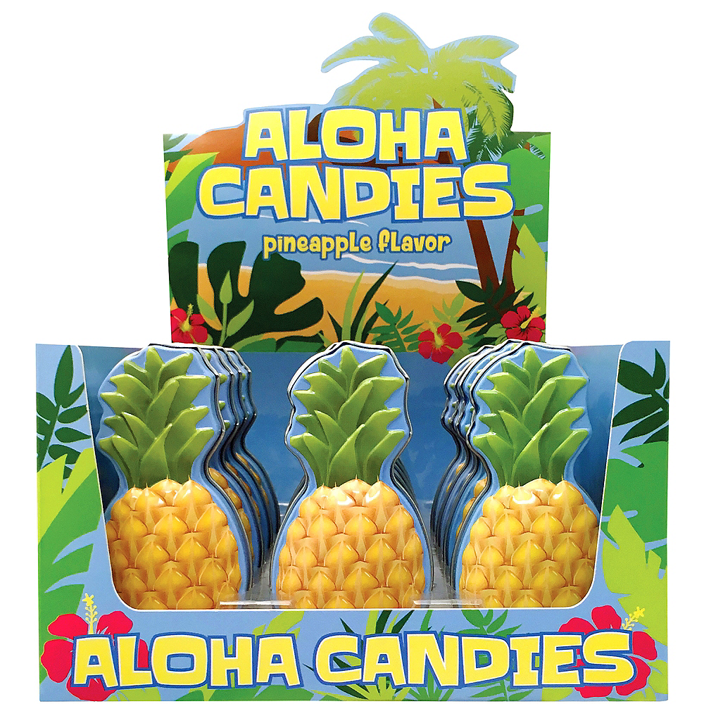 Aloha Candies Pineapple-Flavored Candy Tins 18ct Image #1