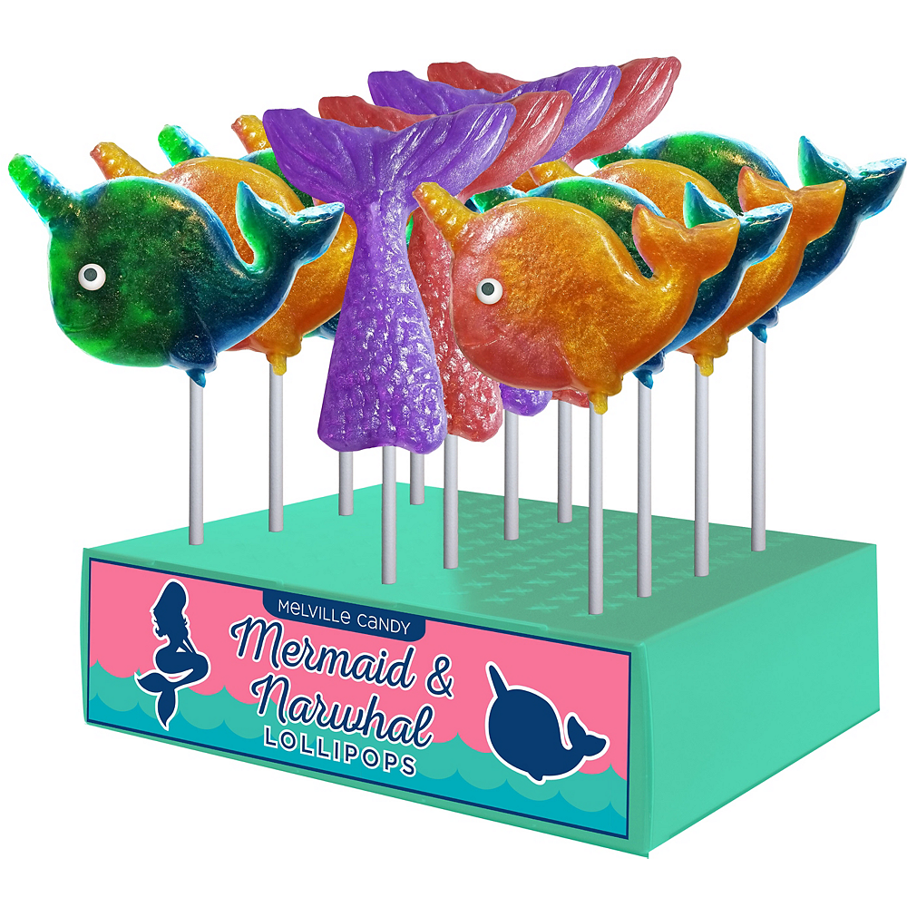 Mermaid & Narwhal Lollipops 12ct Image #1