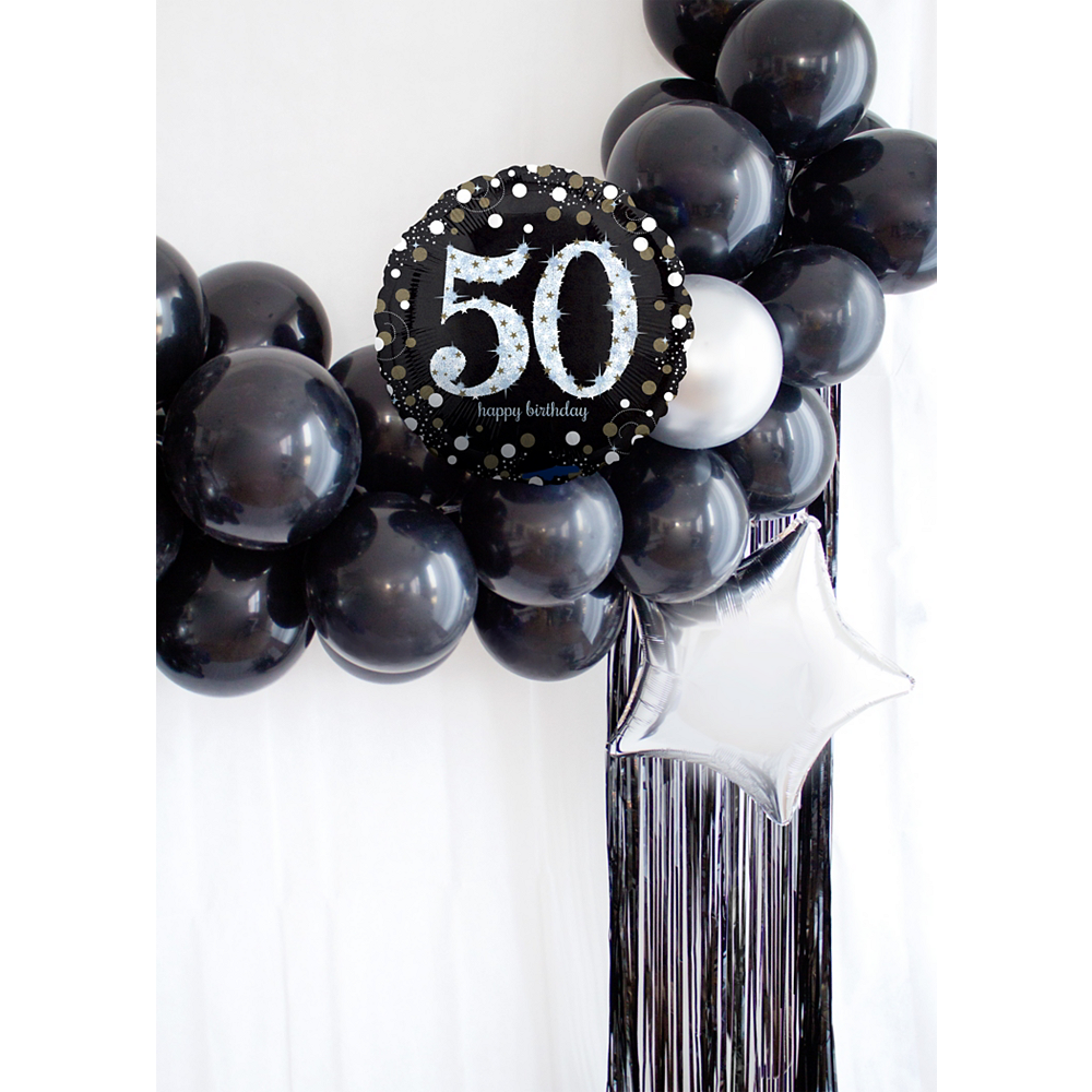 Nav Item for Air-Filled Oh No 50th Birthday Balloon Garland Kit Image #1