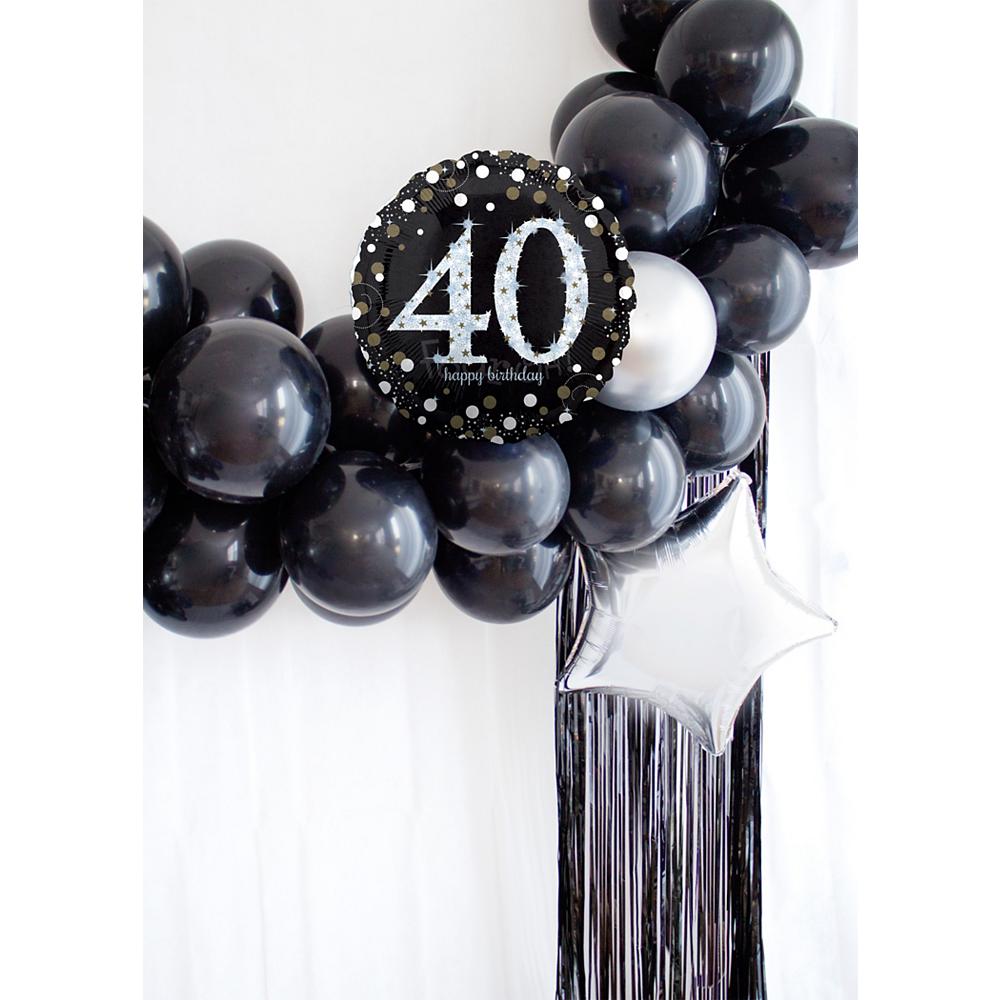 Air-Filled Oh No 40th Birthday Balloon Garland Kit Image #1