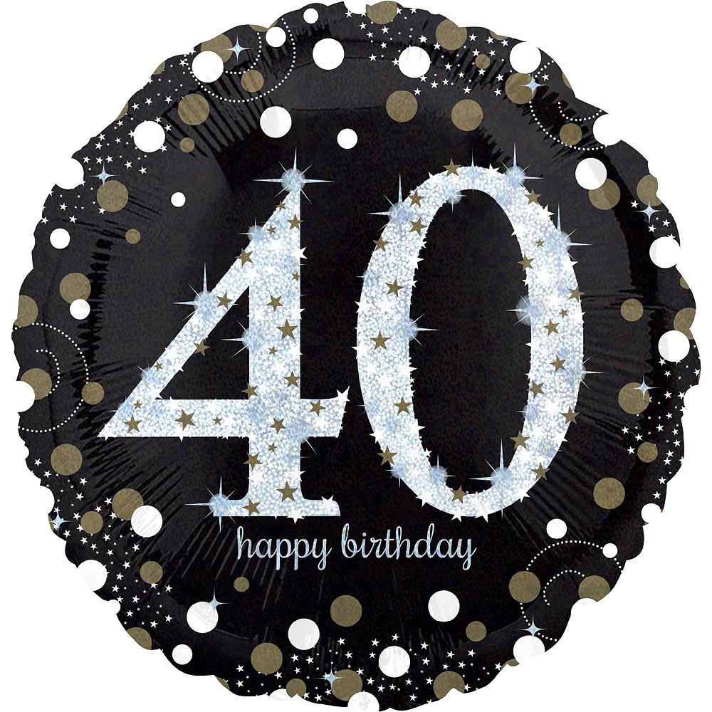 Air-Filled Oh No 40th Birthday Balloon Garland Kit Image #5