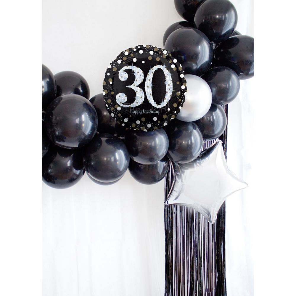 Air-Filled Oh No 30th Birthday Balloon Garland Kit Image #1