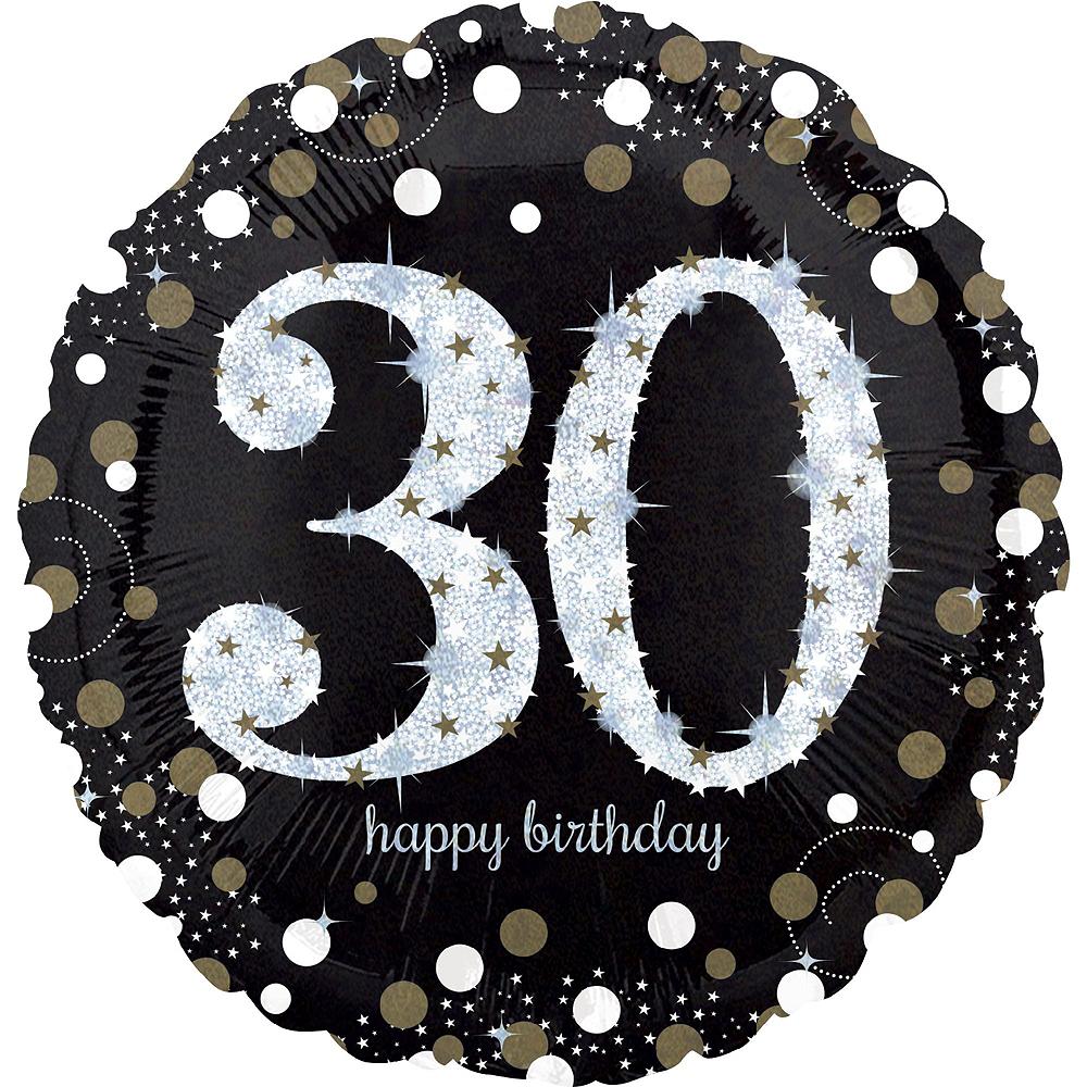 Air-Filled Oh No 30th Birthday Balloon Garland Kit Image #5