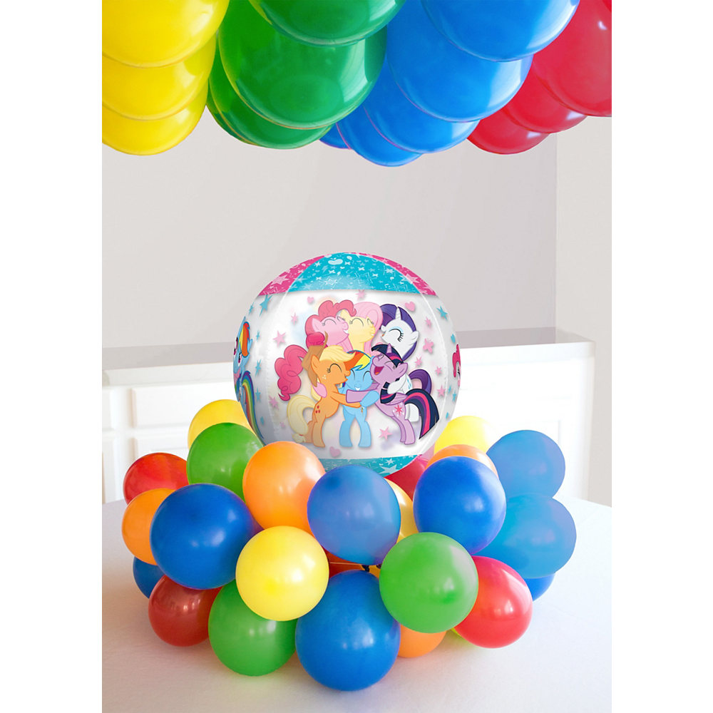 Air-Filled Multicolored My Little Pony Balloon Kit Image #1