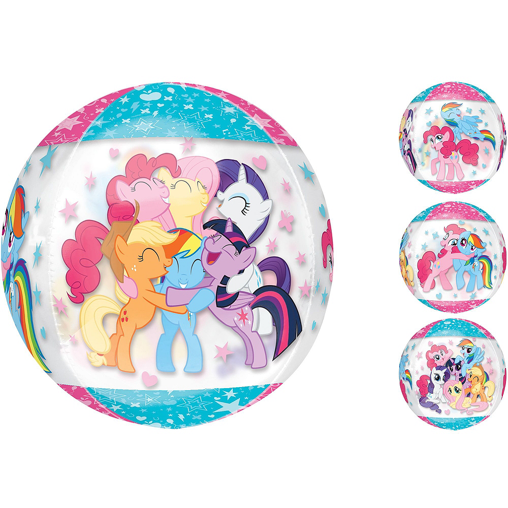 Air-Filled Multicolored My Little Pony Balloon Kit Image #3