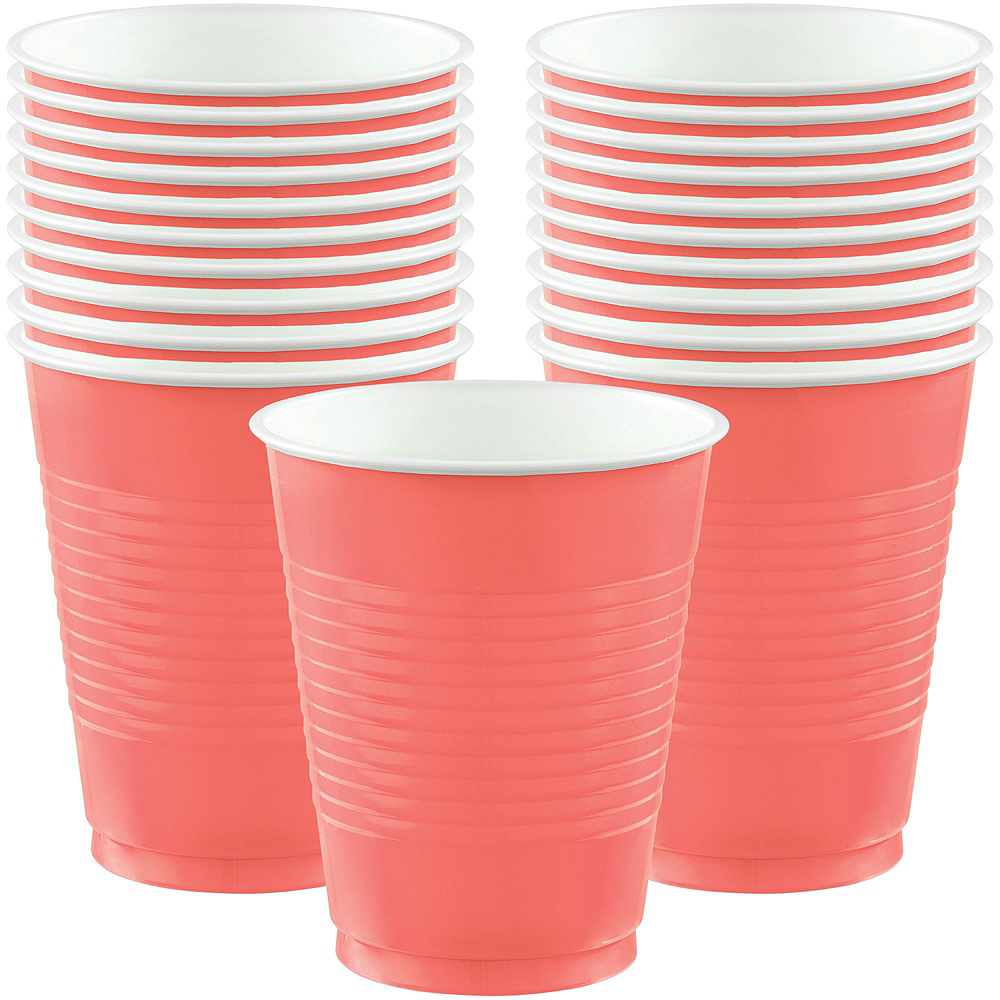 Bright Coral Diamond & Tile Complete Tableware Kit for 32 Guests Image #7
