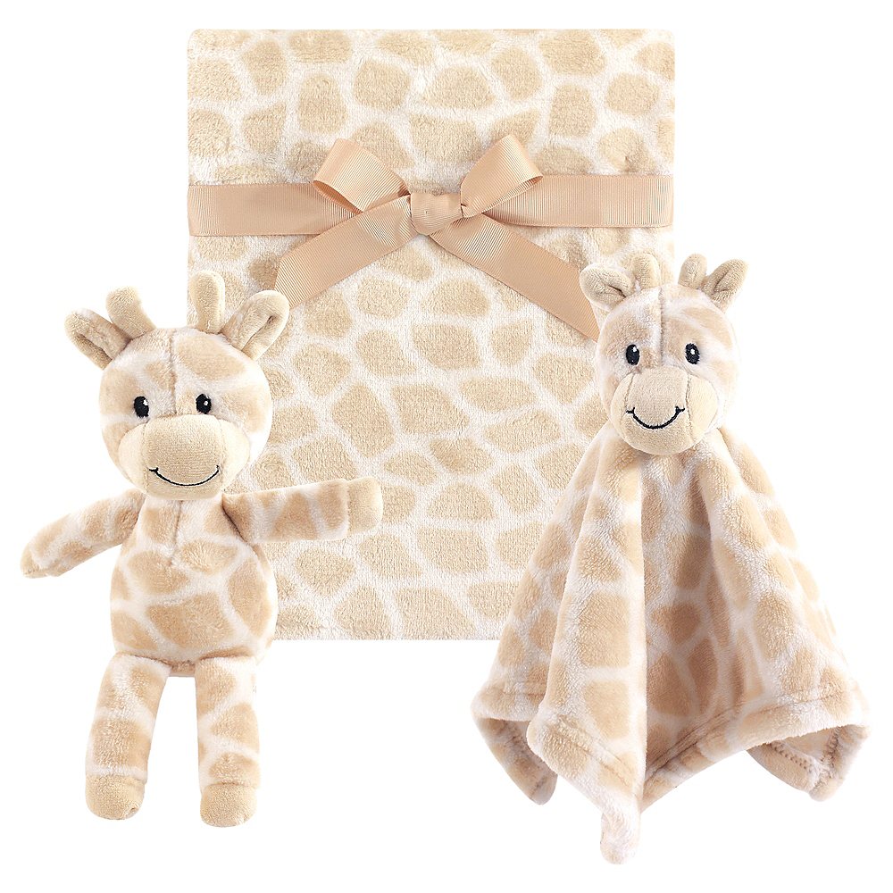 Giraffe Hudson Baby Plush Blanket and Plush Toy and Security Blanket Set Image #1