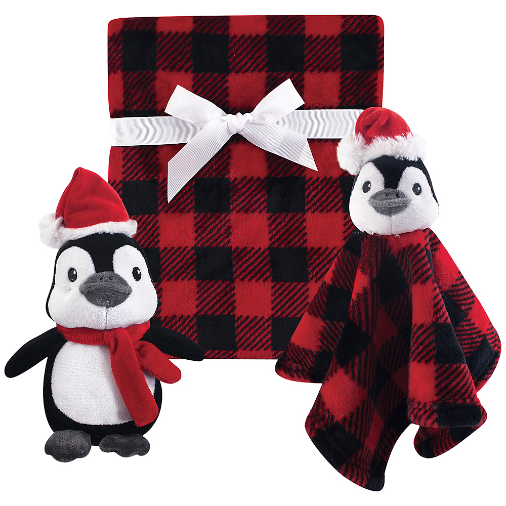 Holiday Penguin Hudson Baby Plush Blanket and Plush Toy and Security Blanket Set Image #1