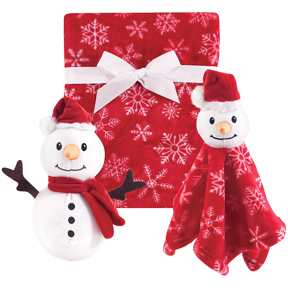 Nav Item for Snowman Hudson Baby Plush Blanket and Plush Toy and Security Blanket Set Image #1