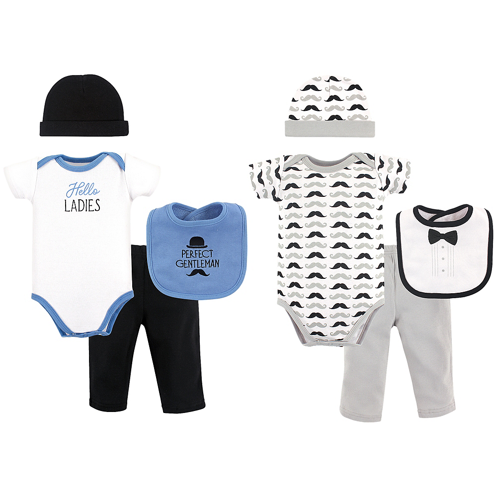 Hello Ladies Hudson Baby Grow With Me Clothing Gift Set, 8-Piece, 0-6 months Image #1