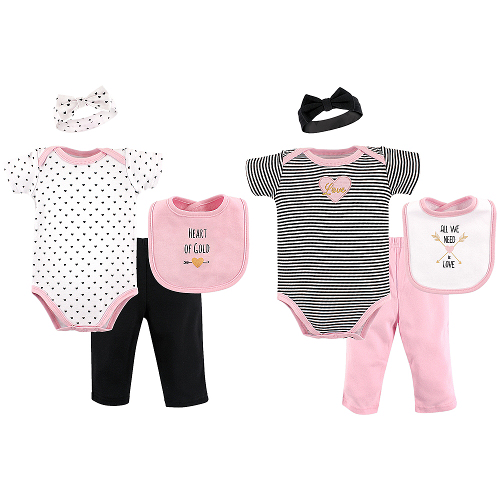 Heart of Gold Hudson Baby Grow With Me Clothing Gift Set, 8-Piece, 0-6 months Image #1