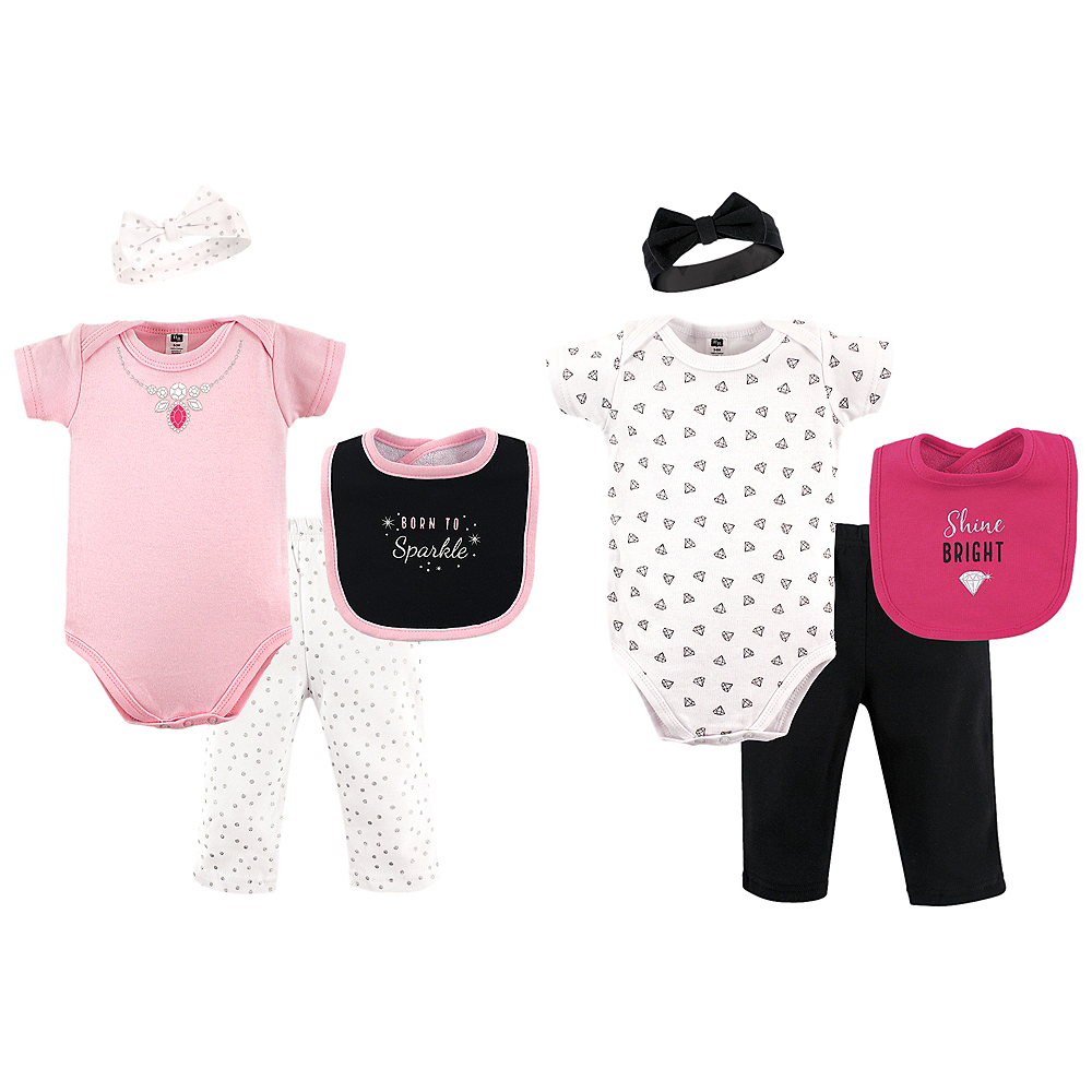 Sparkle Hudson Baby Grow With Me Clothing Gift Set, 8-Piece, 0-6 months Image #1