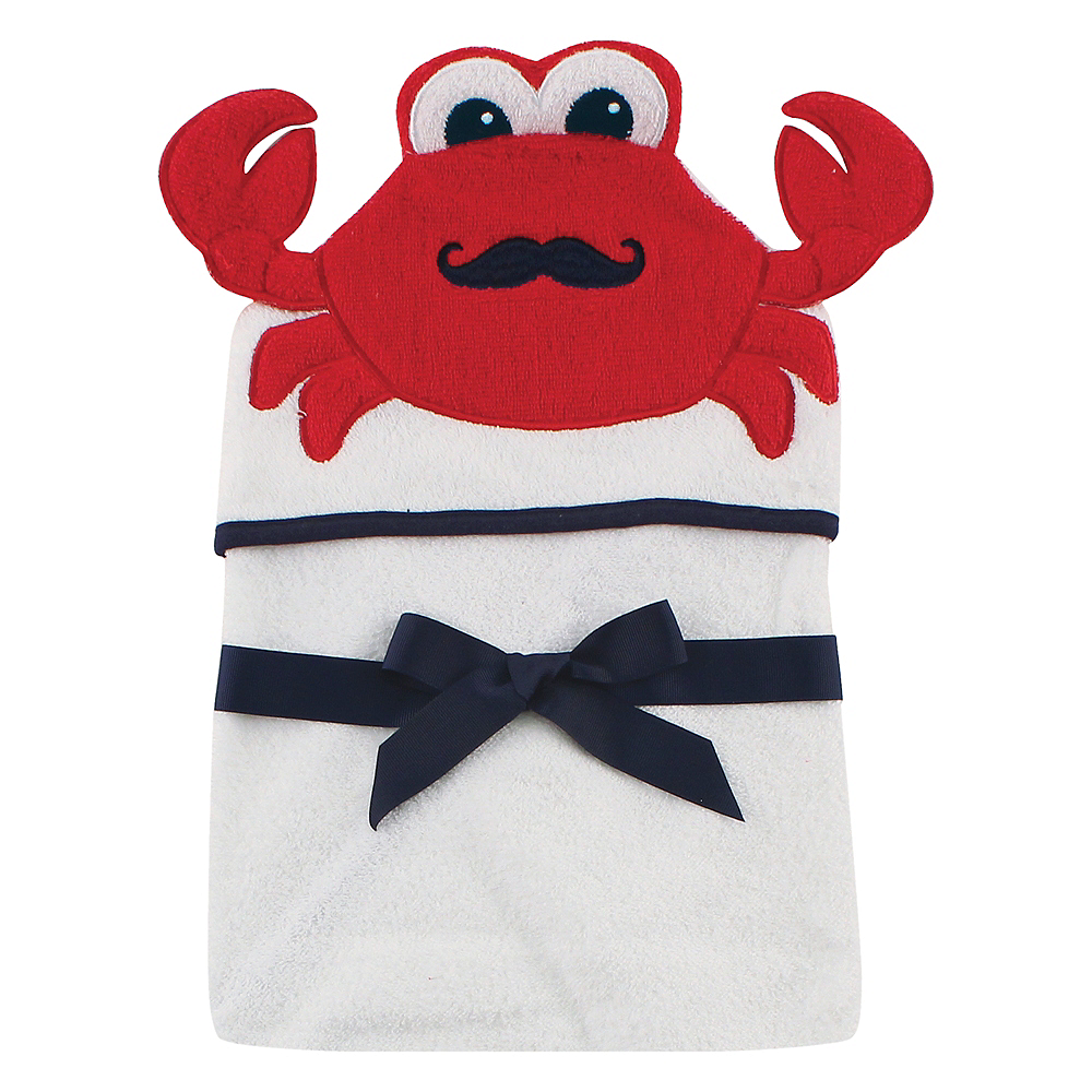 Mr. Crab Hudson Baby Animal Face Hooded Towel Image #1