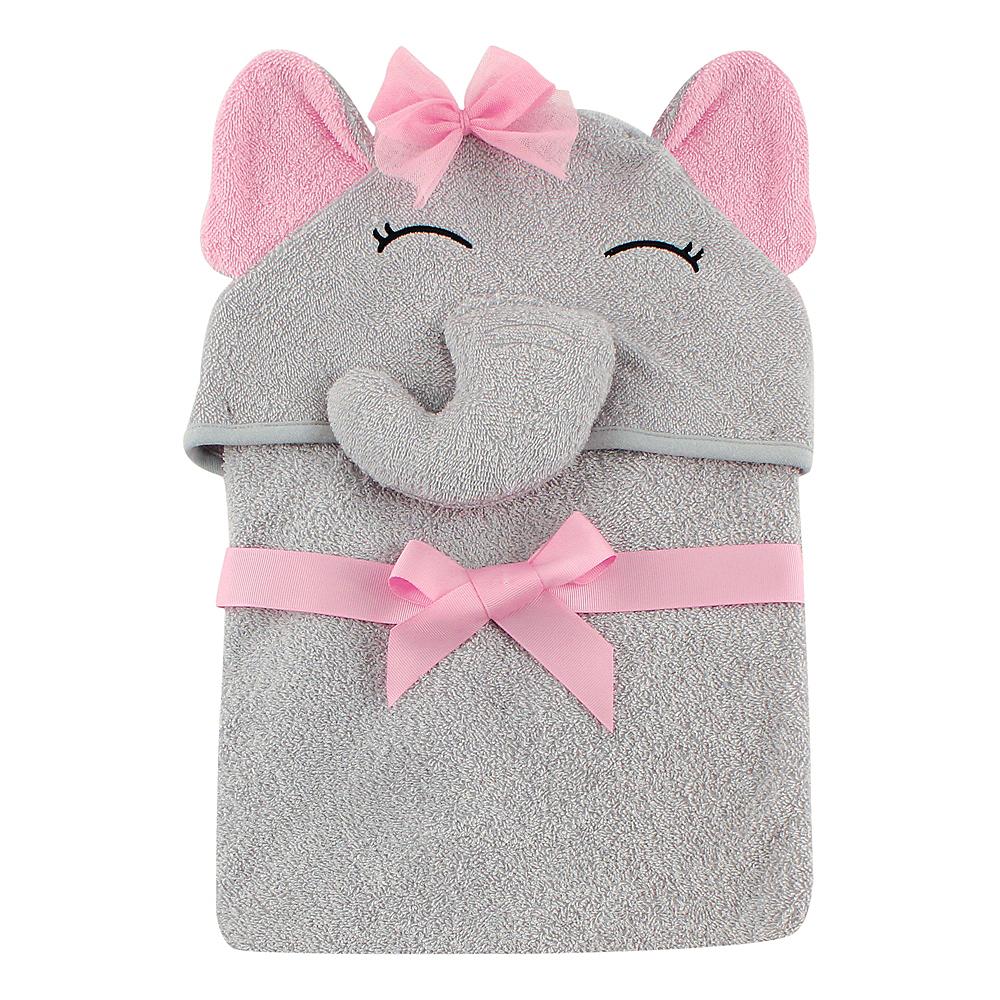 Pretty Elephant Hudson Baby Animal Face Hooded Towel Image #1