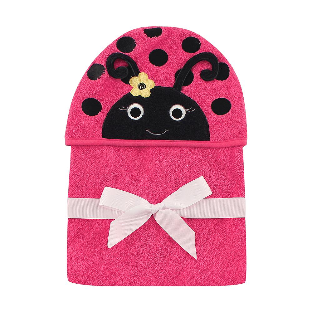 Miss Ladybug Hudson Baby Animal Face Hooded Towel Image #1