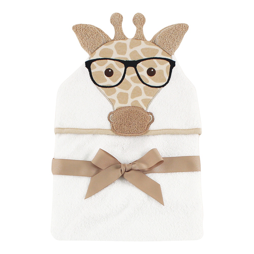 Nerdy Giraffe Hudson Baby Animal Face Hooded Towel Image #1