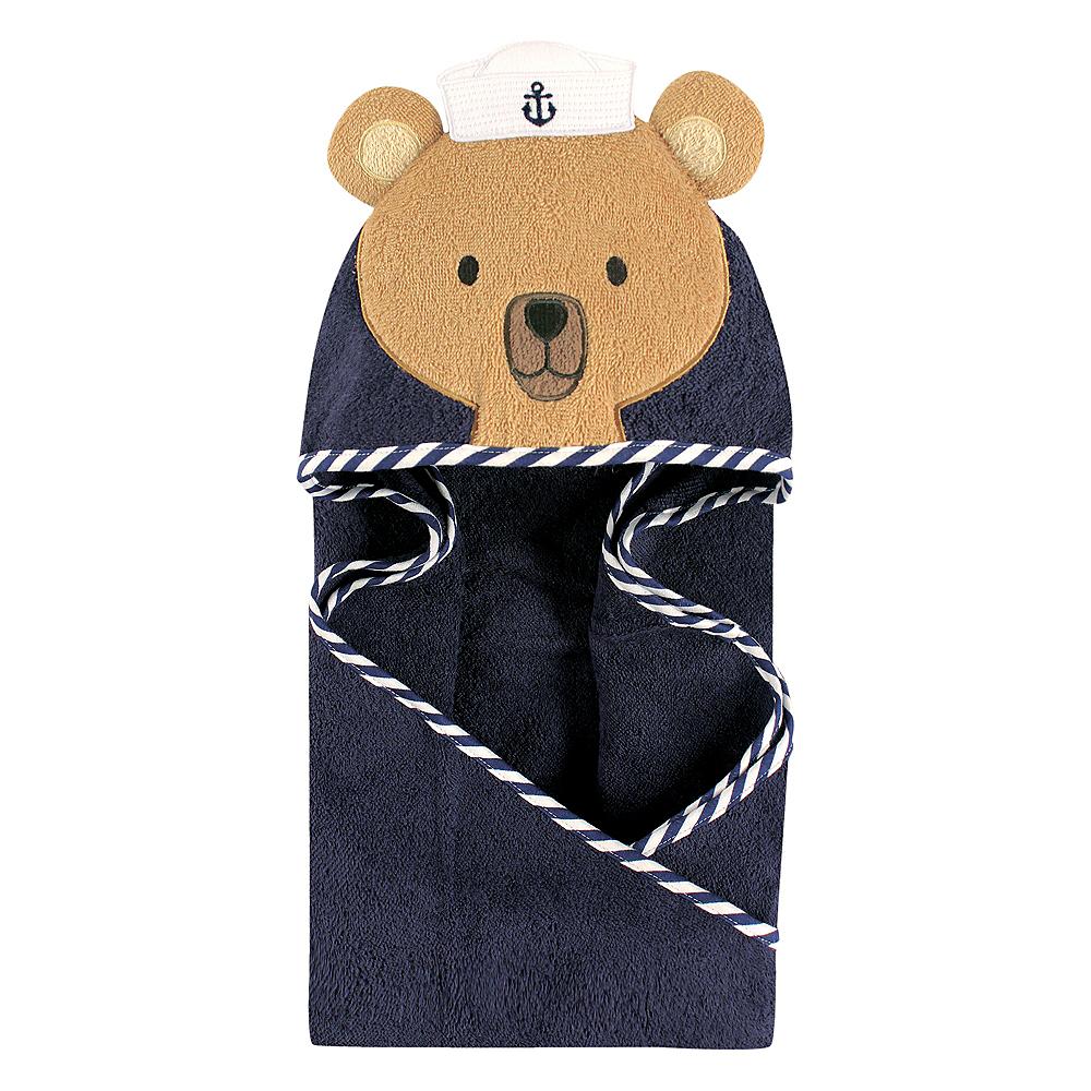 Sailor Bear Hudson Baby Animal Face Hooded Towel Image #1