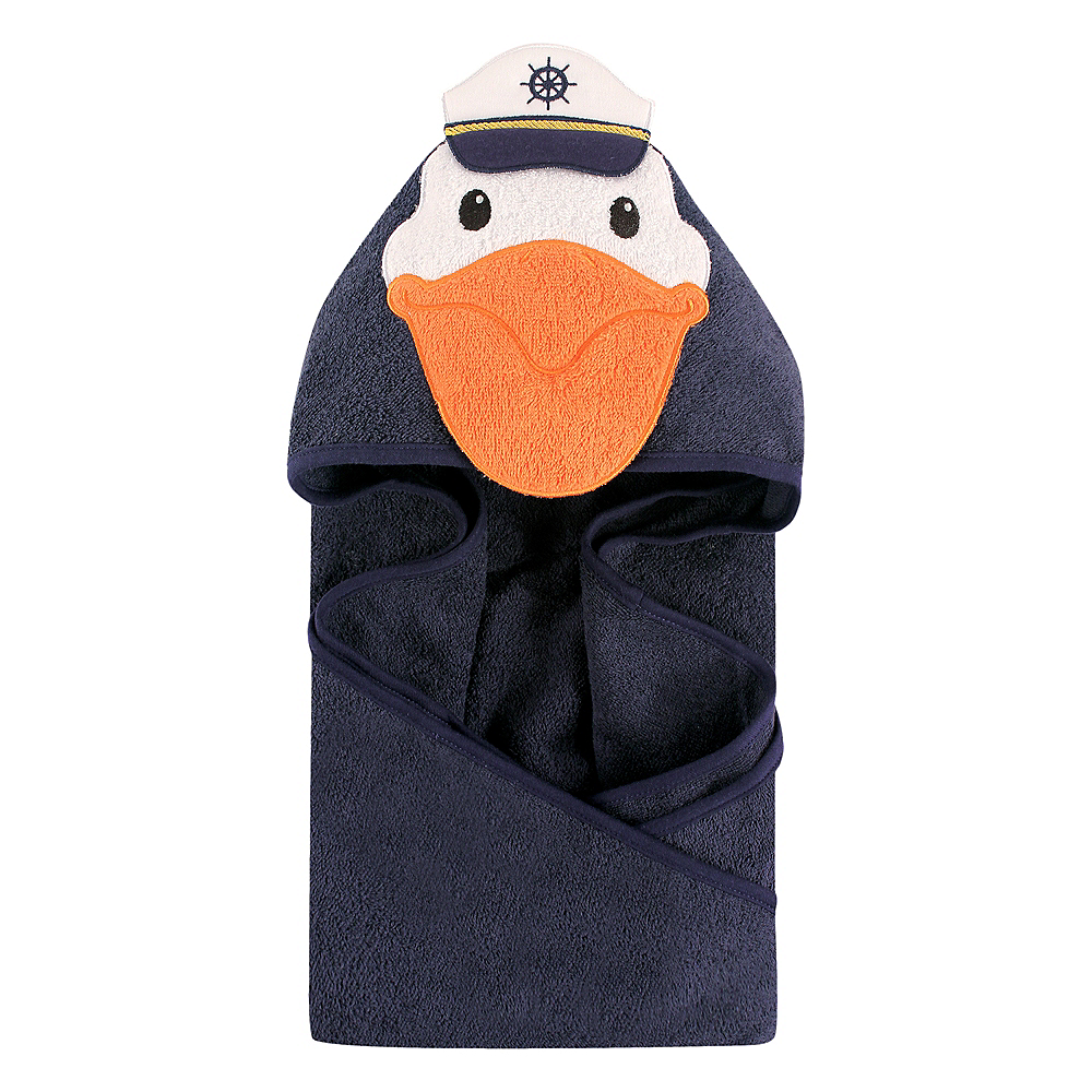 Captain Pelican Hudson Baby Animal Face Hooded Towel Image #1