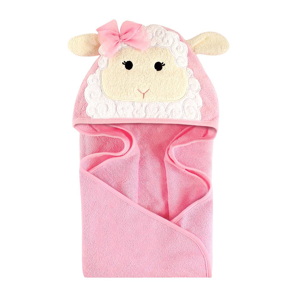 Little Lamb Hudson Baby Animal Face Hooded Towel Image #1