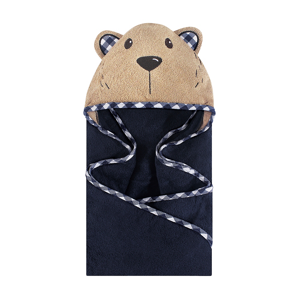Plaid Bear Hudson Baby Animal Face Hooded Towel Image #1