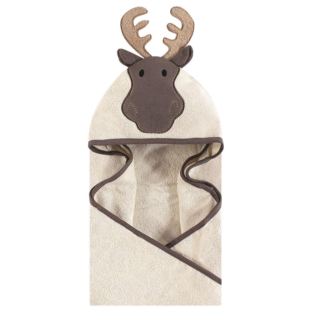 Modern Moose Hudson Baby Animal Face Hooded Towel Image #1