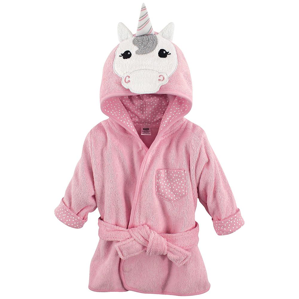 Unicorn Hudson Baby Animal Face Hooded Bath Robe, 0-9 months Image #1