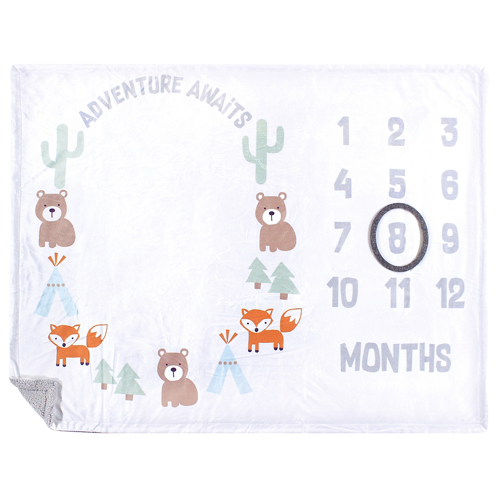 Adventure Awaits Hudson Baby Milestone High Pile Blanket Image #1