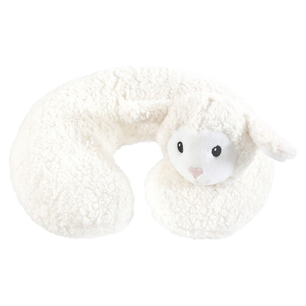 Hudson Baby Travel Neck Support Pillow, Lamb Image #1