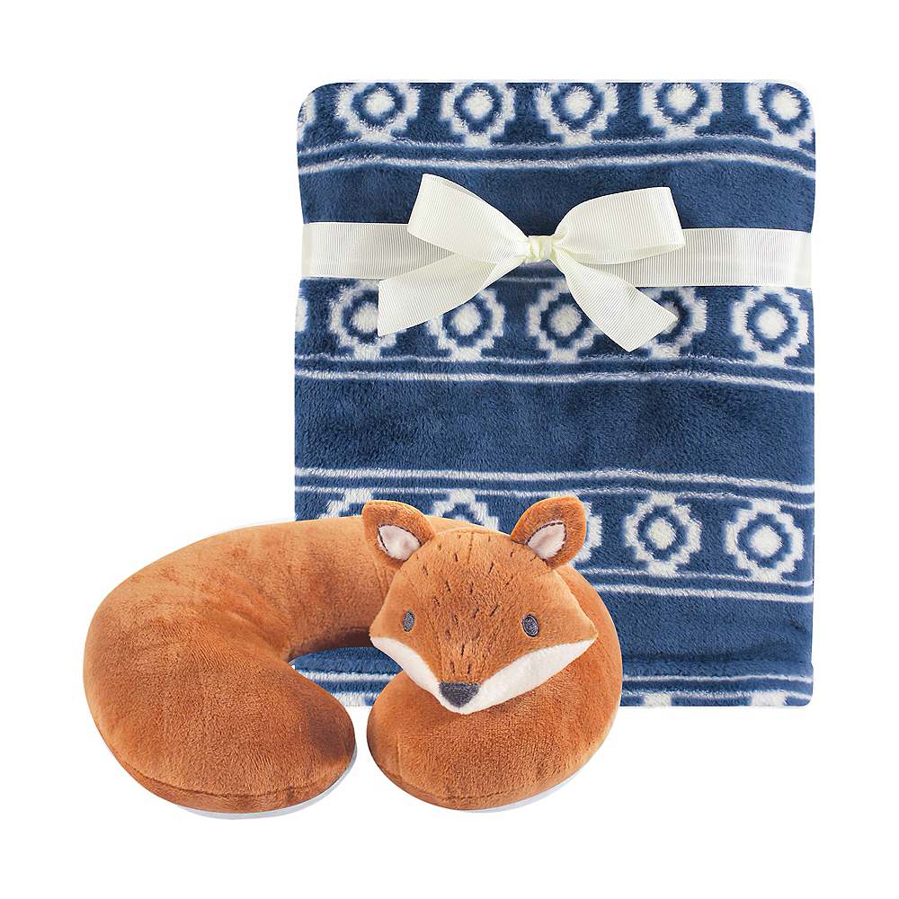Modern Fox Hudson Baby Travel Neck Support Pillow and Blanket Set, 2 Piece Image #1