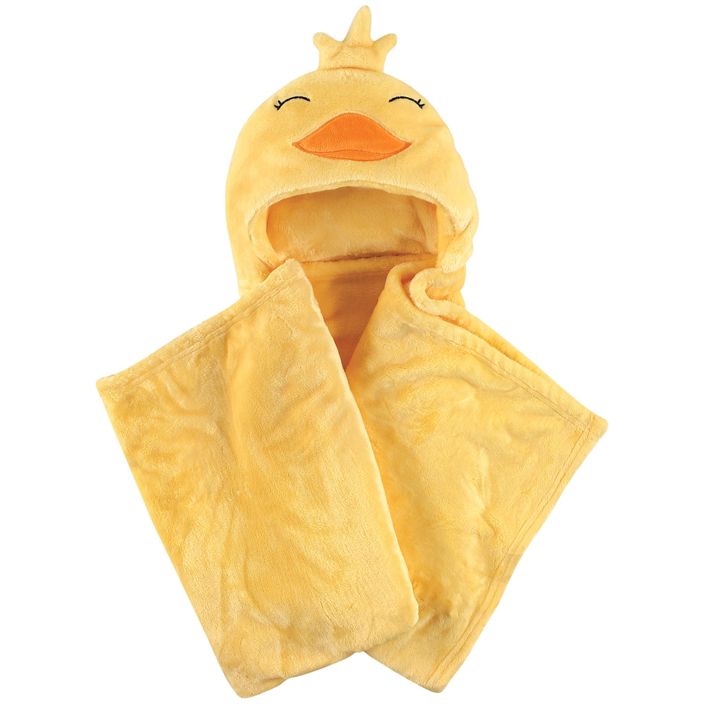 Yellow Duck Hudson Baby Plush Hooded Blanket Image #1