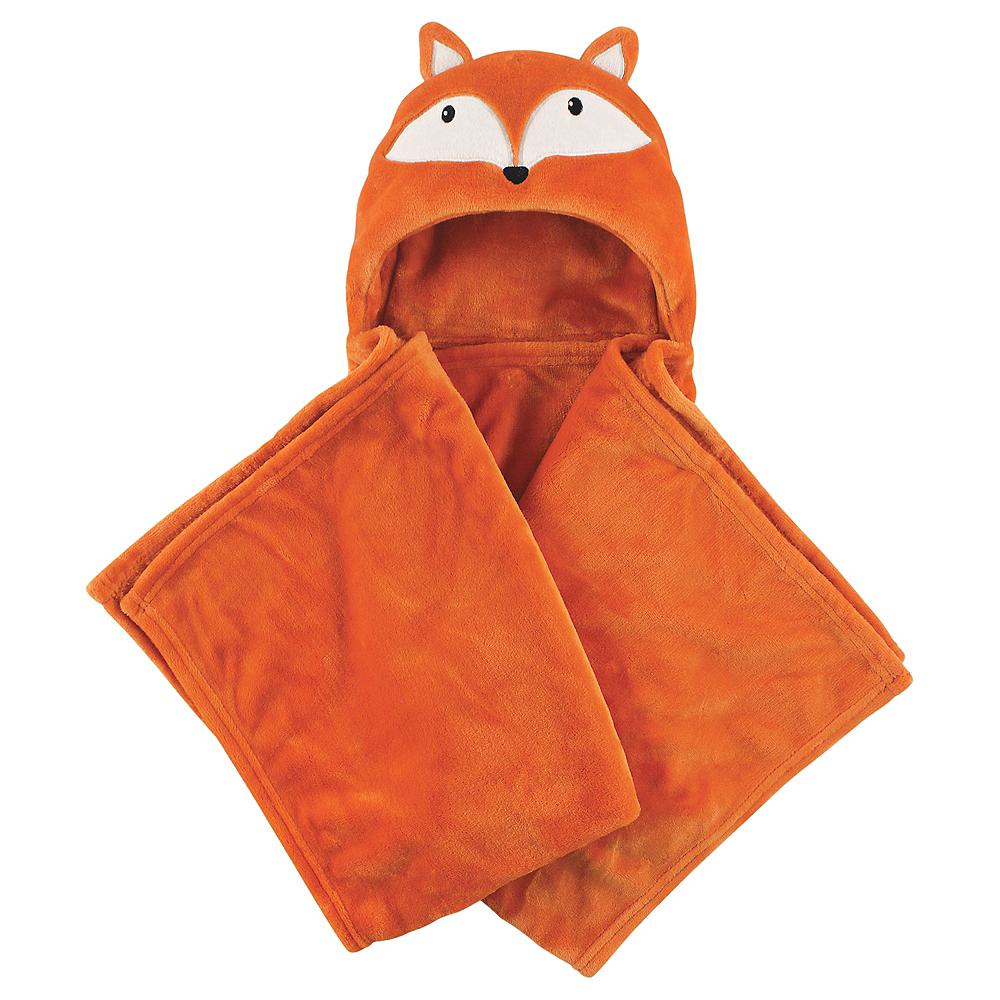 Orange Fox Hudson Baby Plush Hooded Blanket Image #1
